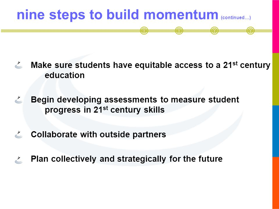 nine steps to build momentum (continued…)