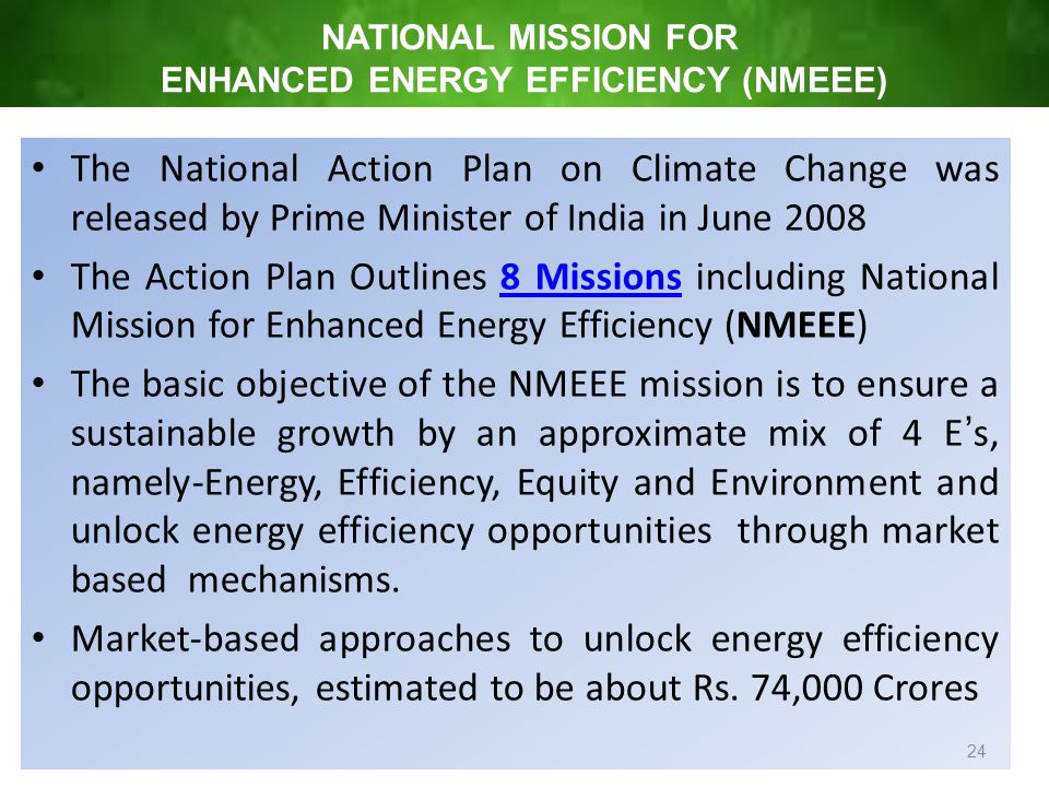 national action plan on climate change 8 missions