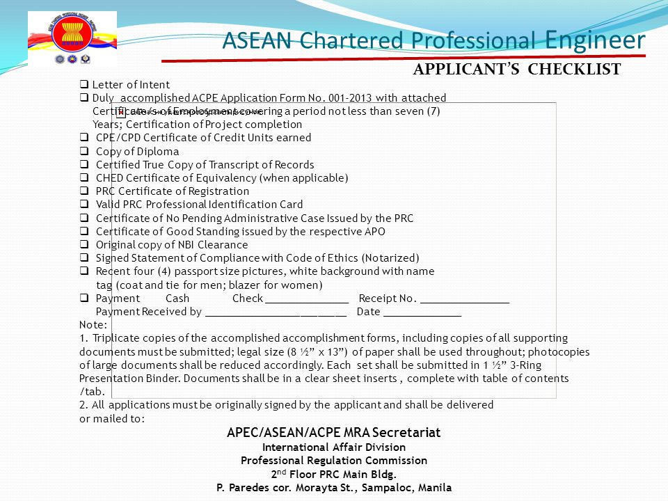 Asean Chartered Professional Engineer Ppt Video Online Download