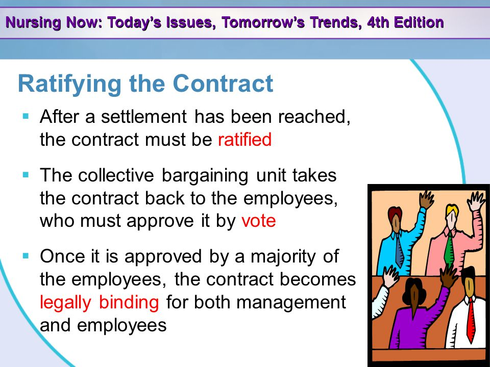 Ratifying the Contract