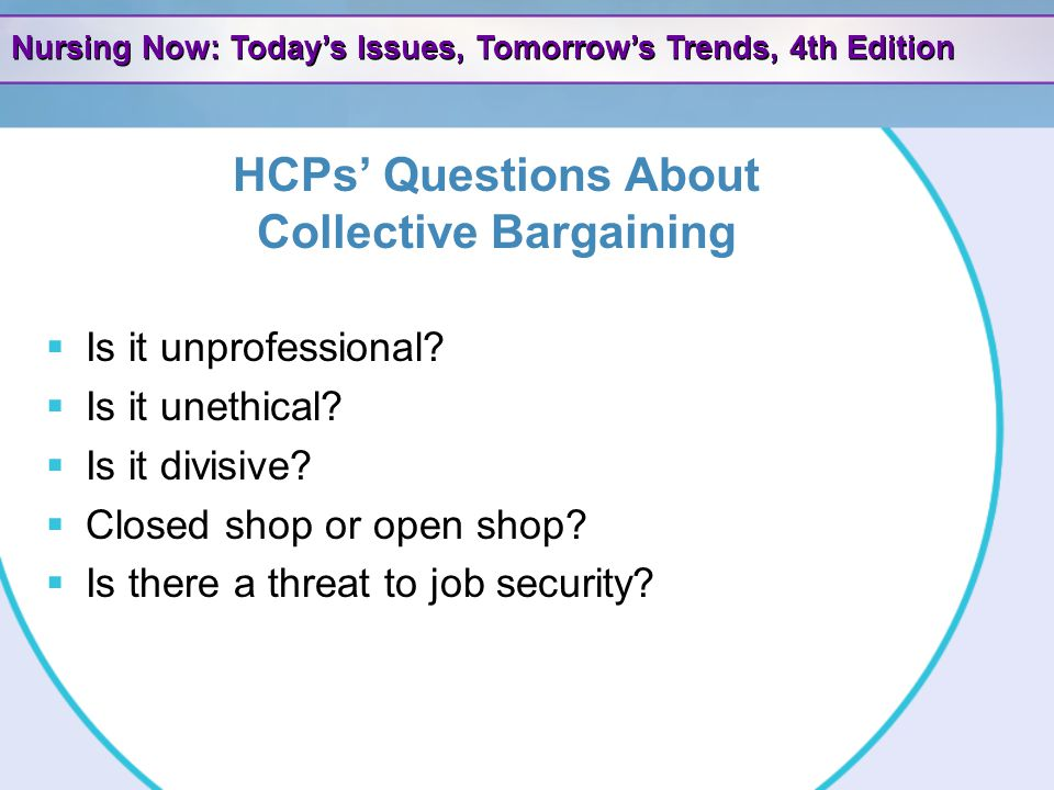 HCPs' Questions About Collective Bargaining