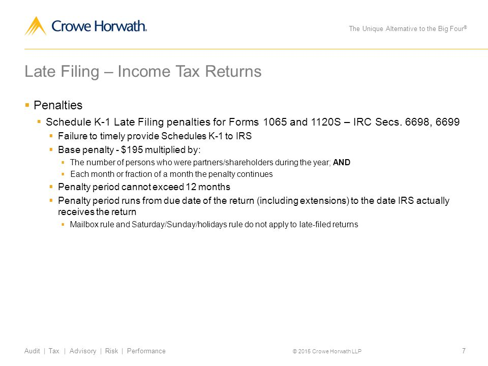 form 1065 penalty for late filing  What To Do When You Miss a Filing Deadline - ppt download