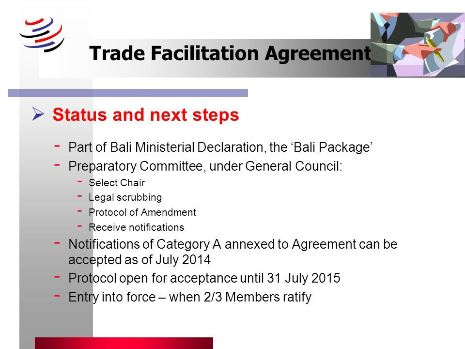 The Wto Trade Facilitation Agreement Ppt Download