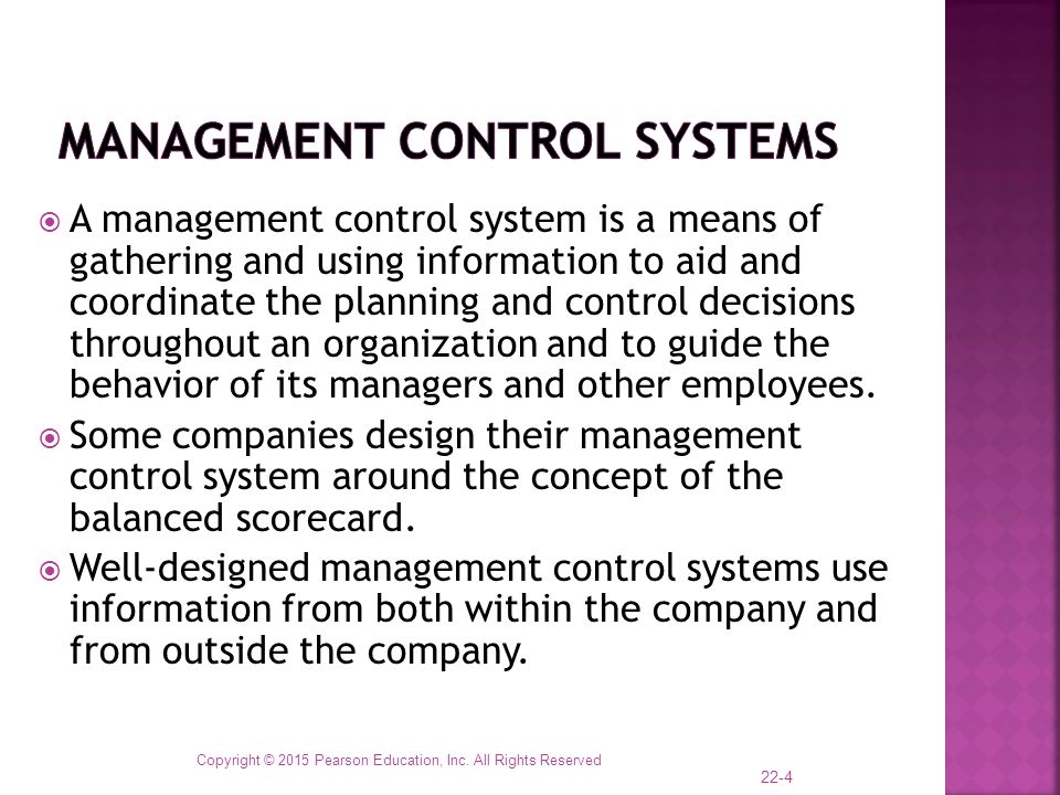 Chapter 22 Management Control Systems Transfer Pricing Ppt Download