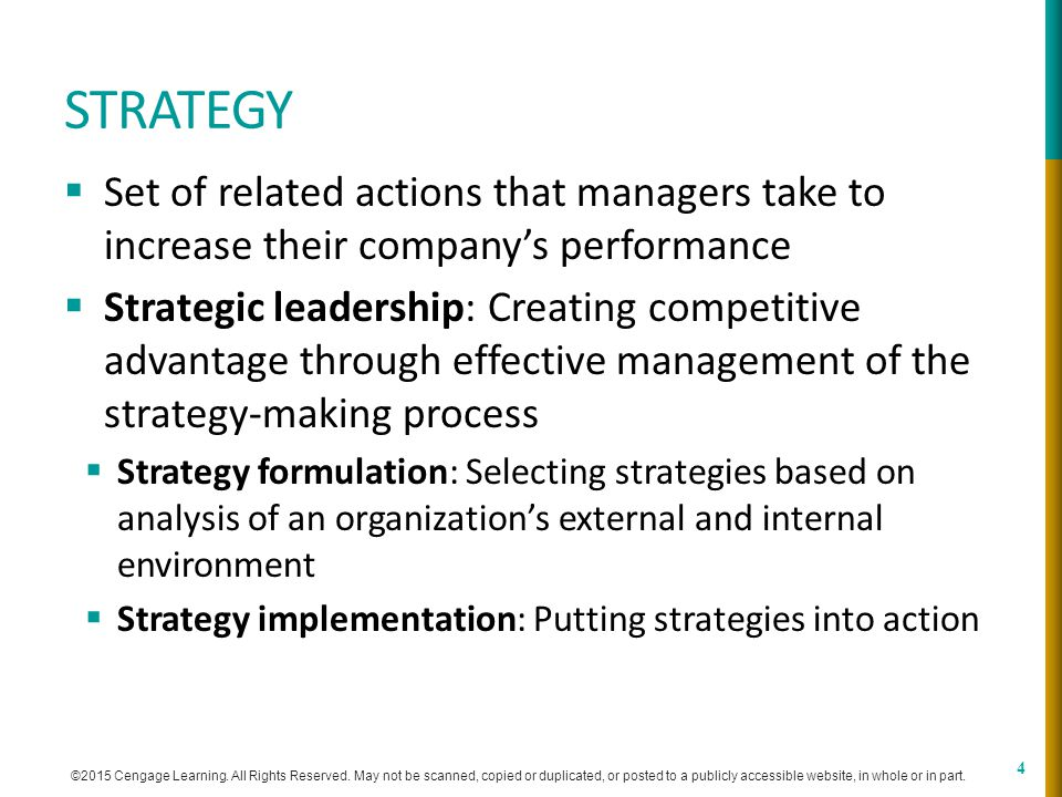 Chapter 1 Strategic Leadership: Managing the Strategy