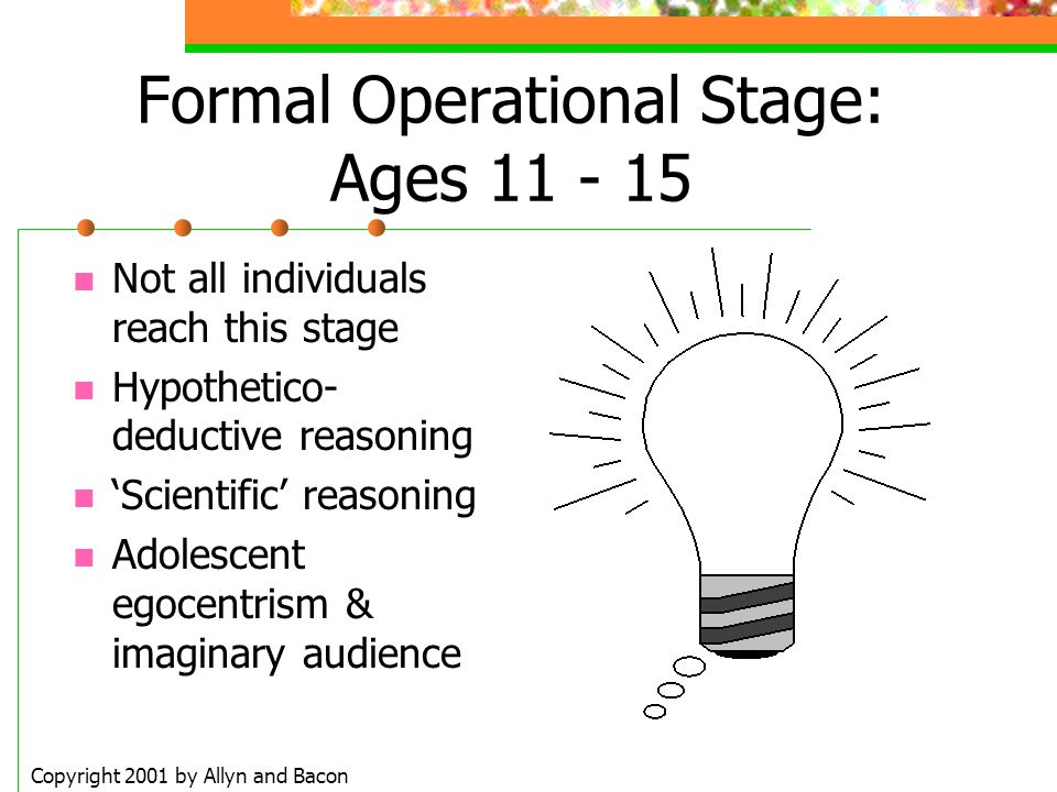 Formal Operational Stage: Ages