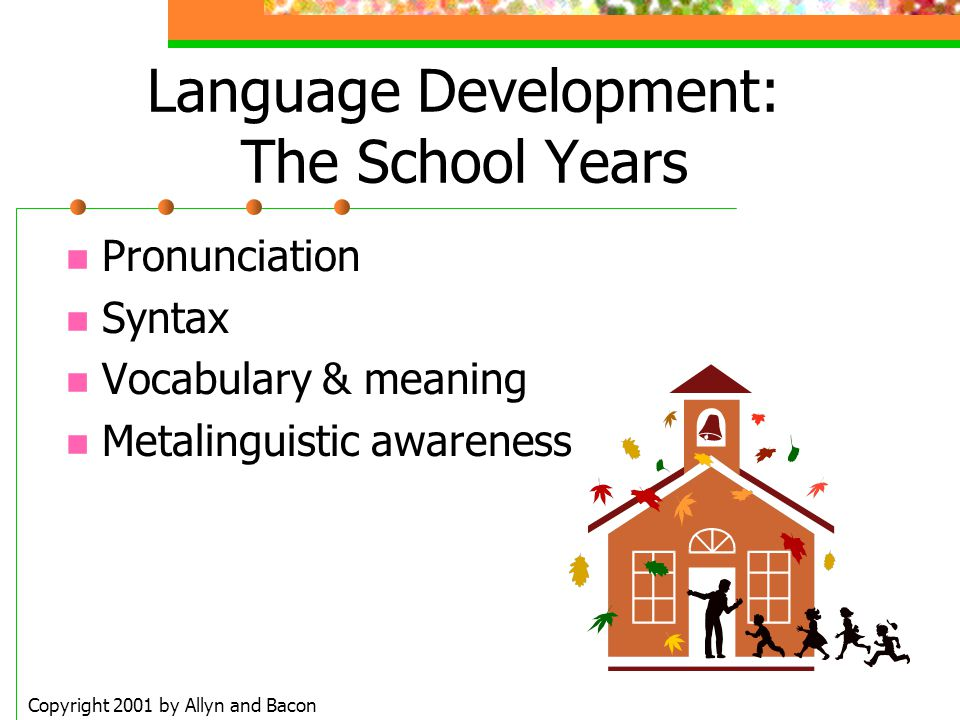 Language Development: The School Years