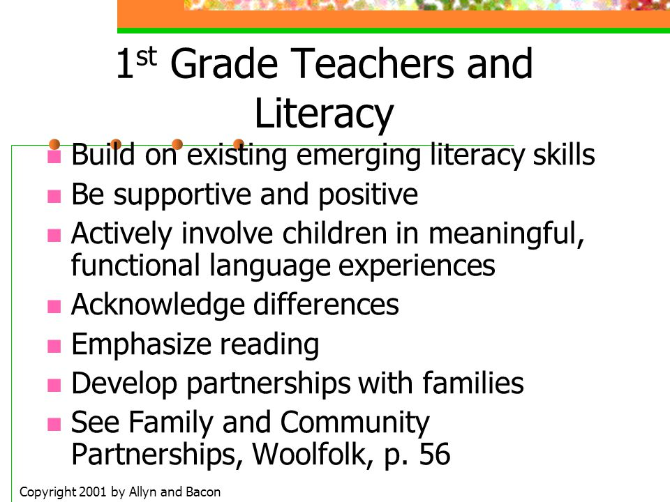 1st Grade Teachers and Literacy