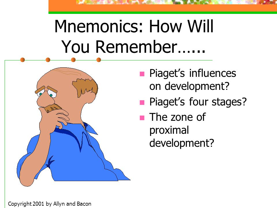 Mnemonics: How Will You Remember…...