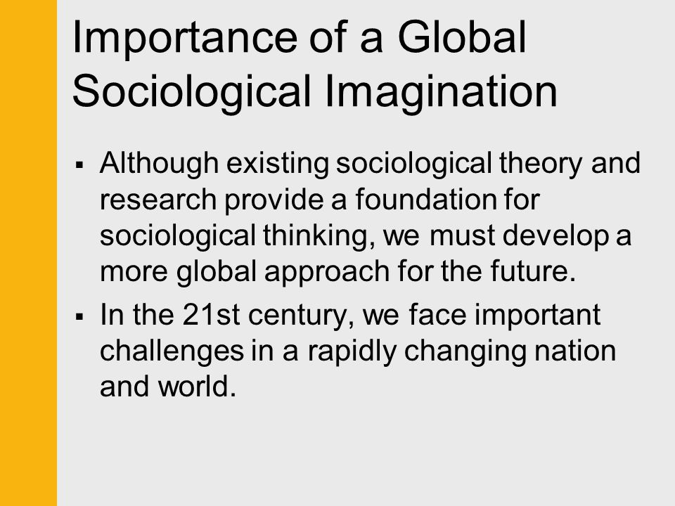 importance of sociological imagination