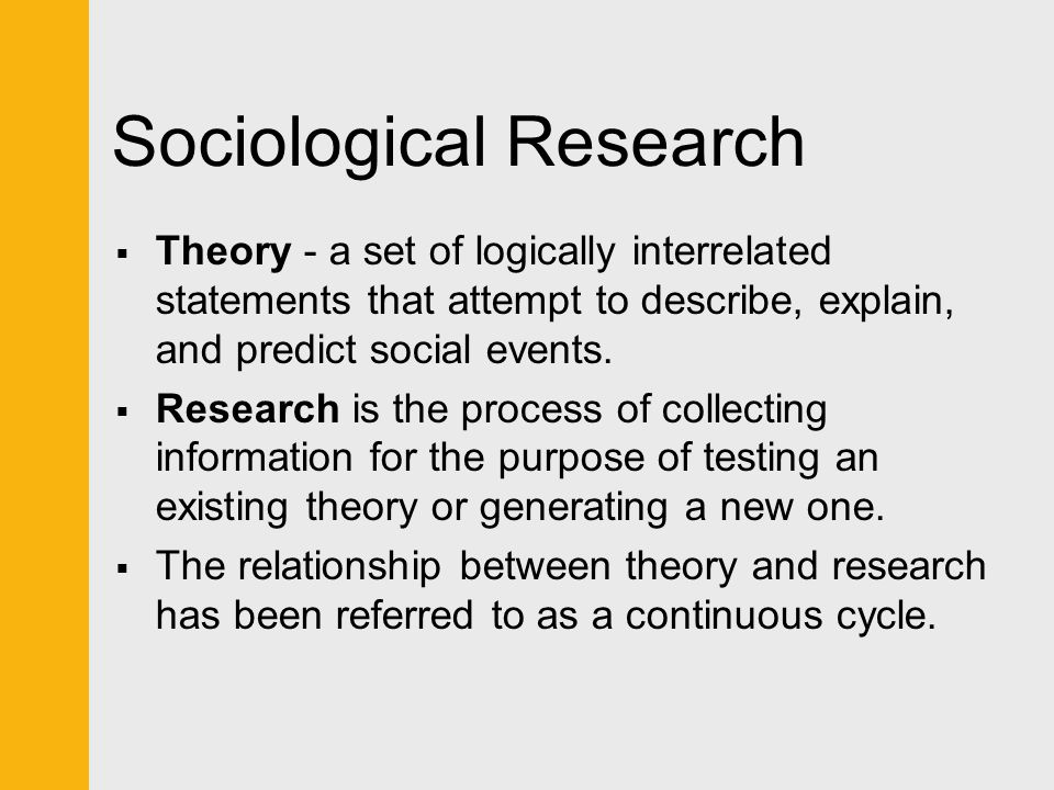 sociological theory and research