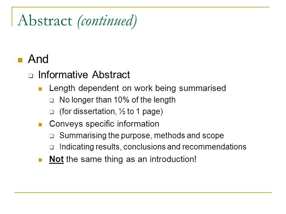 Writing your dissertation introduction, conclusion and abstract