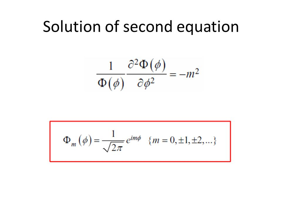Solution of second equation