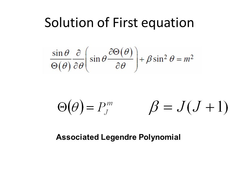 Solution of First equation