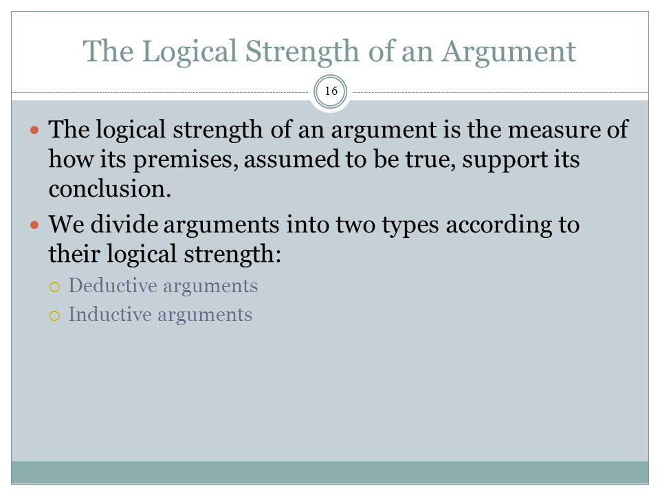 strength of an argument