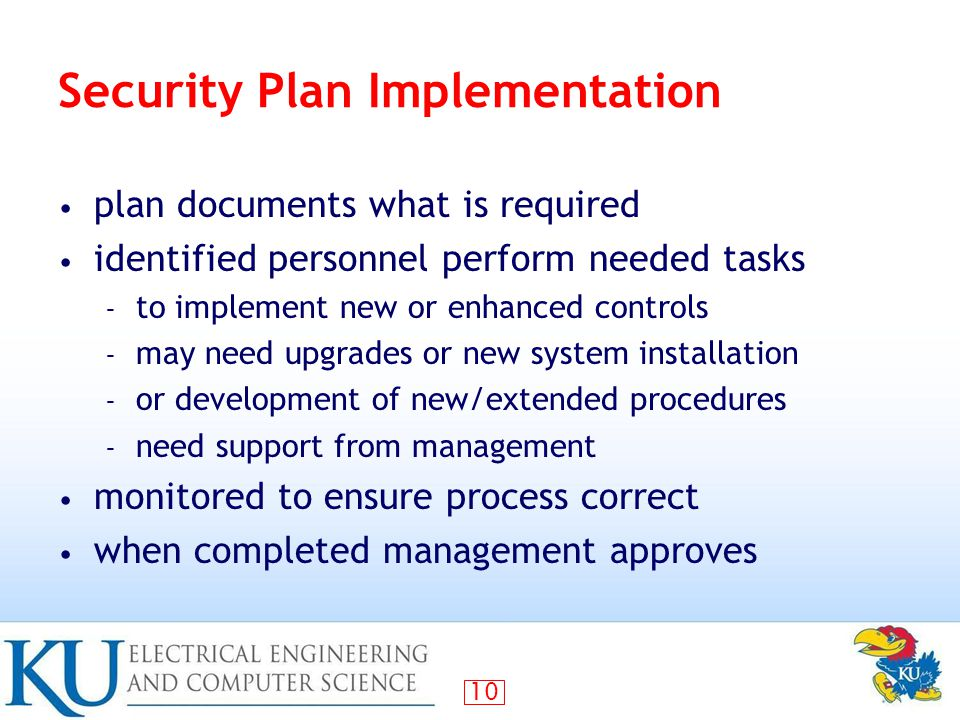 Security Plan Implementation