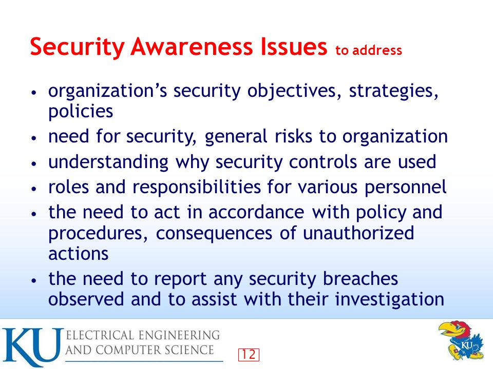 Security Awareness Issues to address