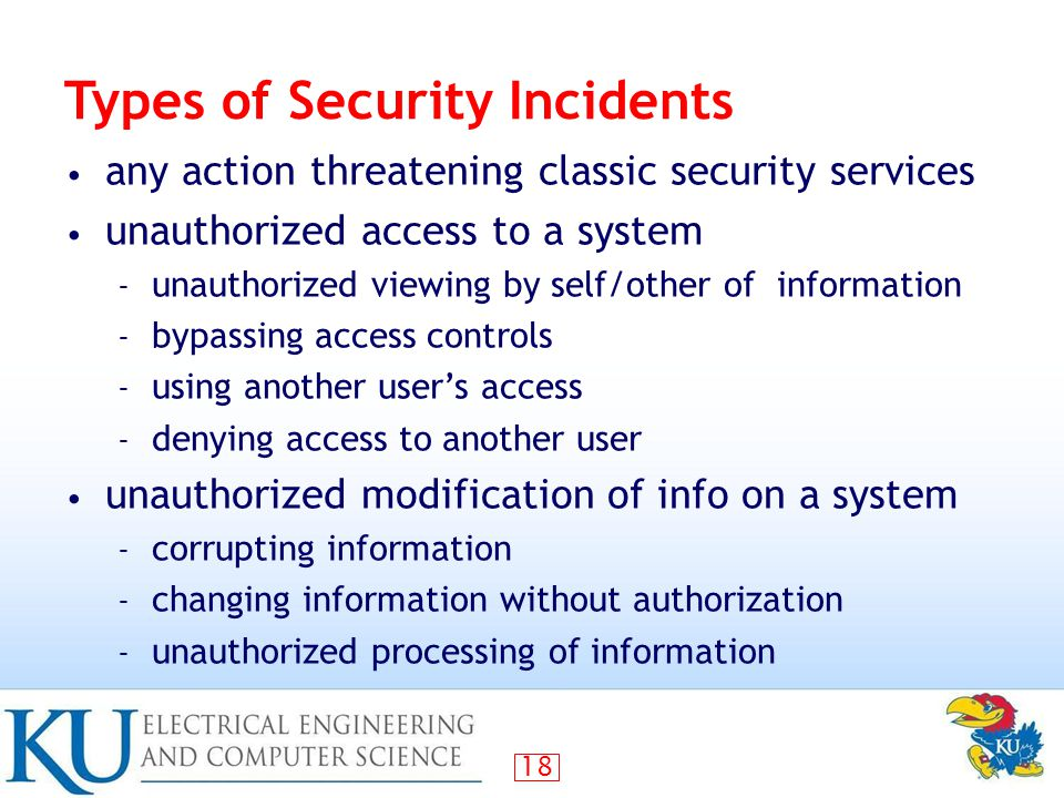 Types of Security Incidents