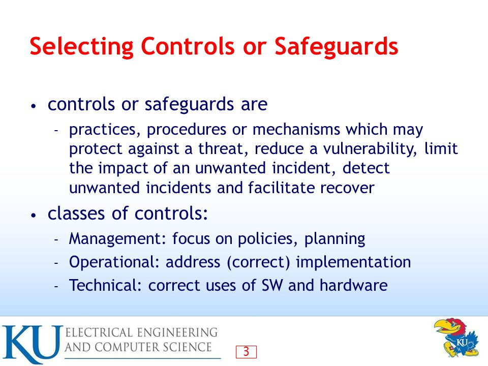 Selecting Controls or Safeguards