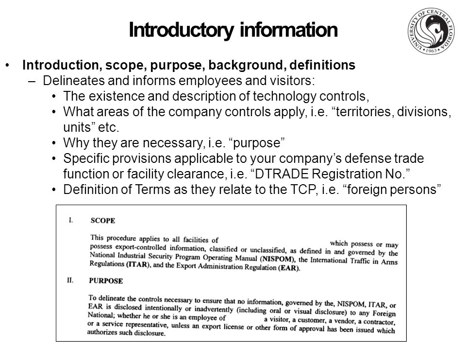 Technology Control Plans For Cleared Defense Contractors