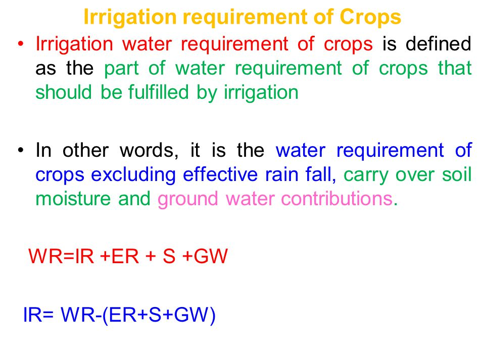 Chapter ii 2. 1. Planning irrigation systems ppt download.