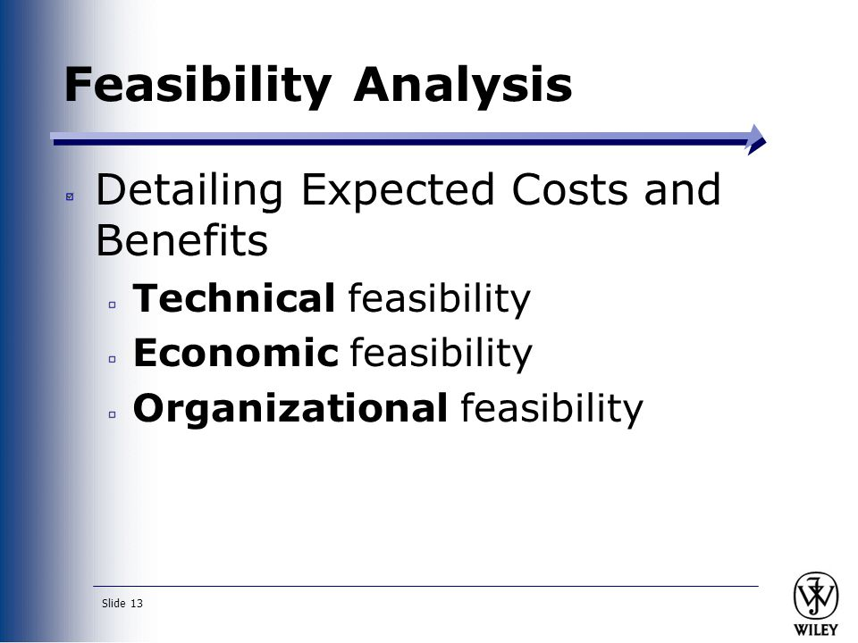 Feasibility Analysis Detailing Expected Costs and Benefits