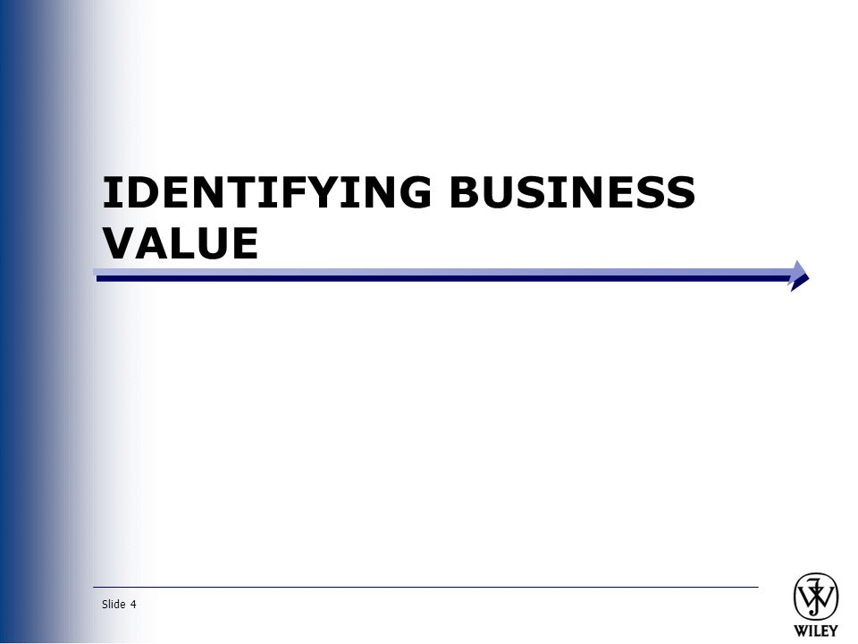 IDENTIFYING BUSINESS VALUE