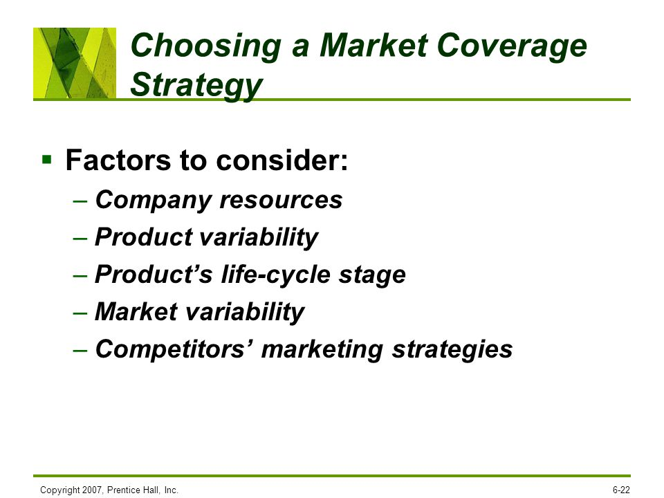 Choosing a Market Coverage Strategy
