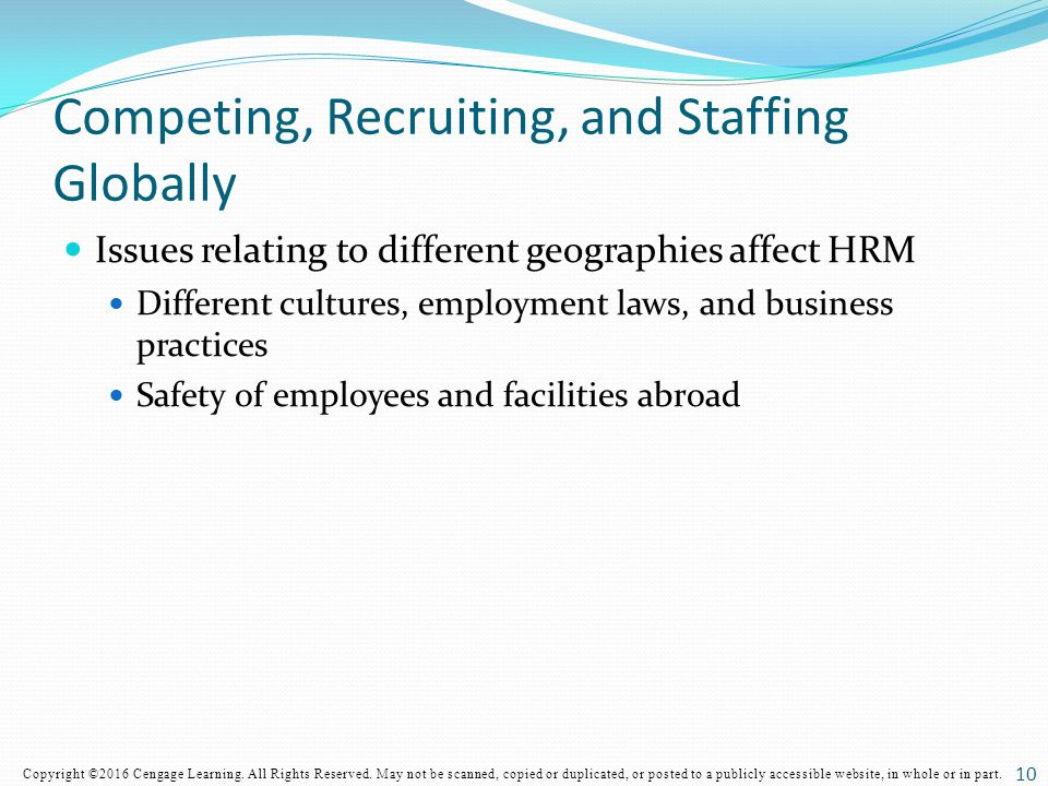 Competing, Recruiting, and Staffing Globally
