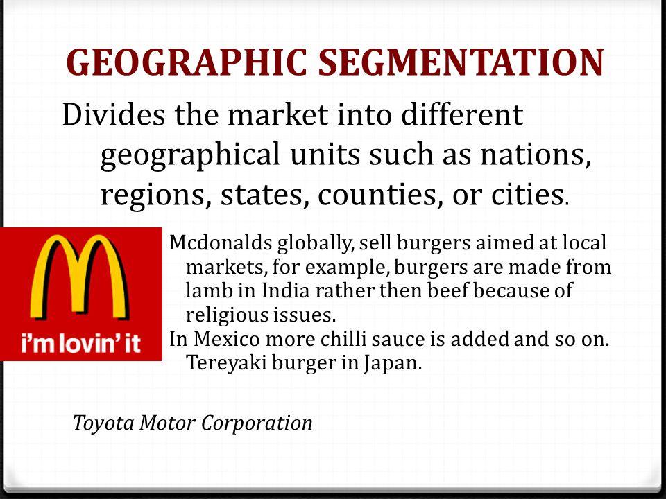 geographic segmentation example