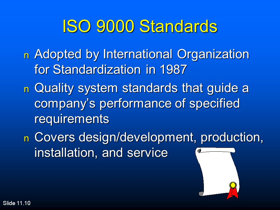ISO 9000 Standards Adopted by International Organization for Standardization in
