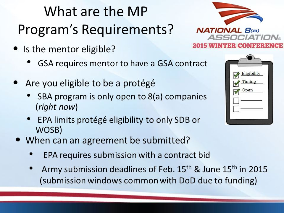 What are the MP Program's Requirements