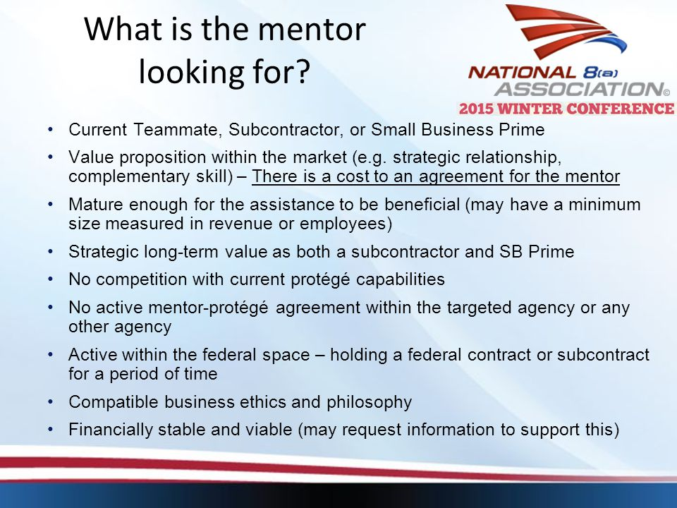 What is the mentor looking for