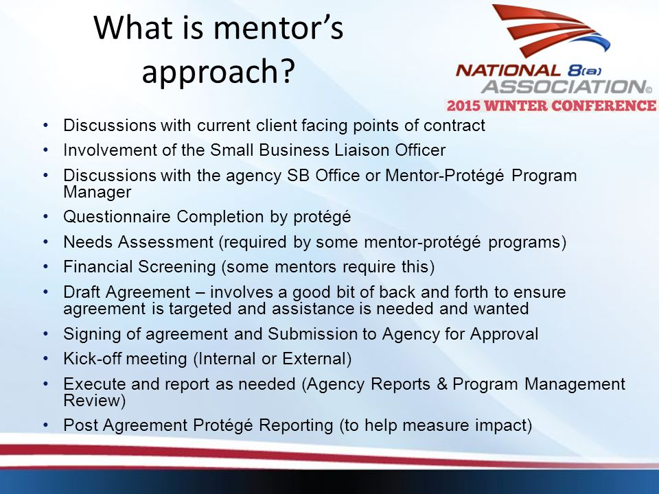 What is mentor's approach