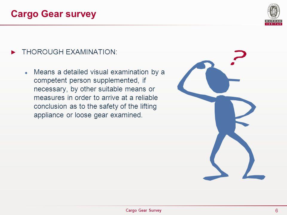 Cargo Gear Survey … …………………      ……………    ILO 32