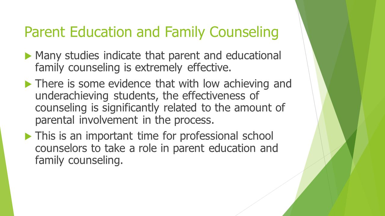 Parent Education and Family Counseling