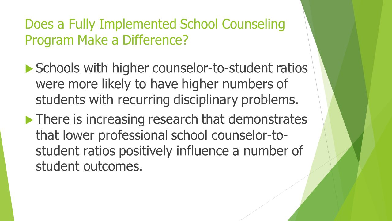 Does a Fully Implemented School Counseling Program Make a Difference