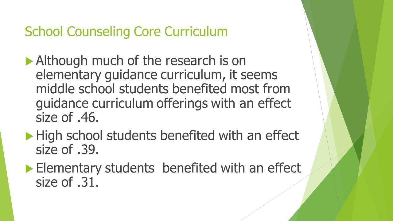 School Counseling Core Curriculum