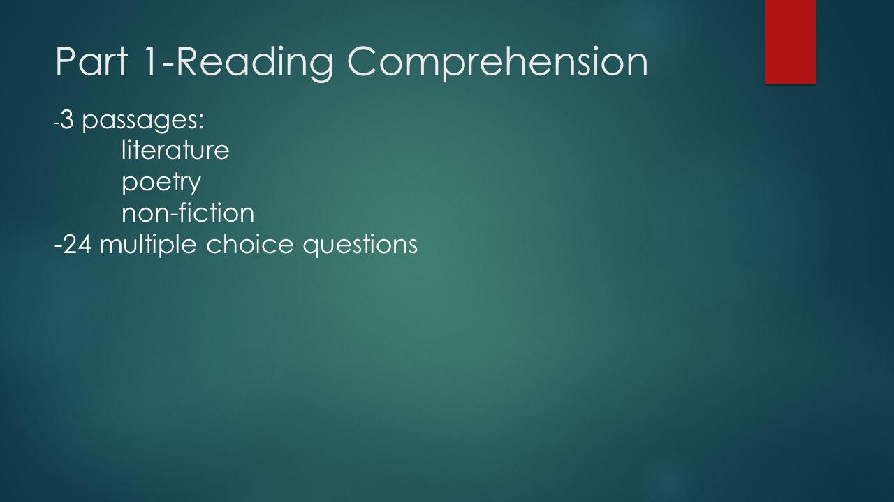 Part 1-Reading Comprehension