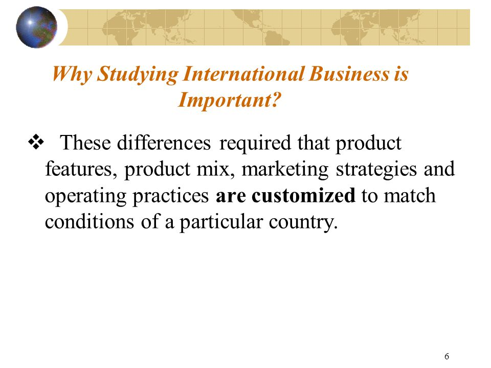 features of international business