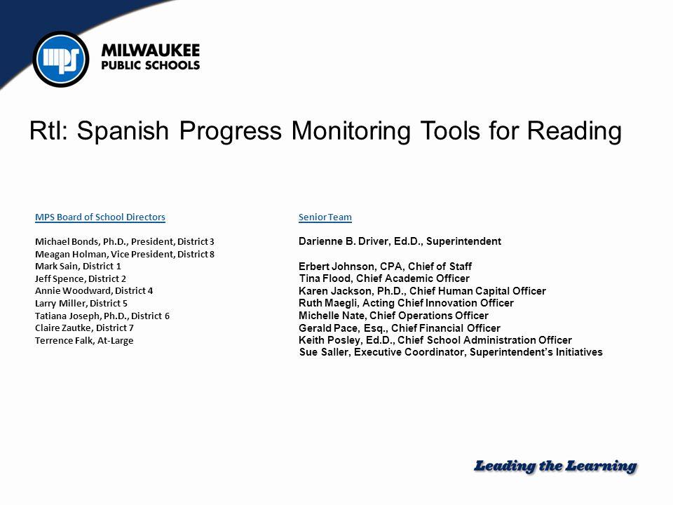 RtI: Spanish Progress Monitoring Tools for Reading - ppt