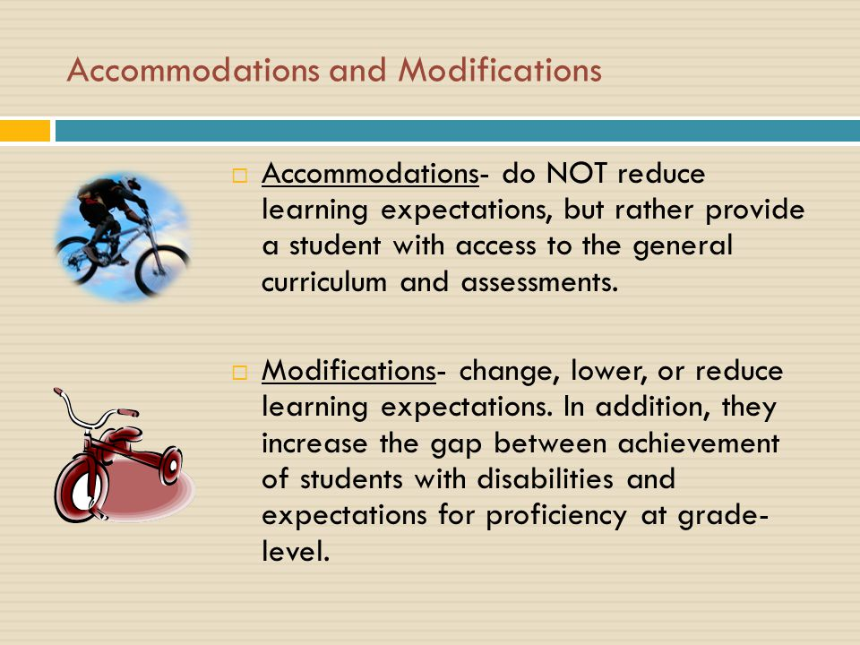 The Difference Between Accommodations And Modifications >> Accommodations 101 An Overview Ppt Download