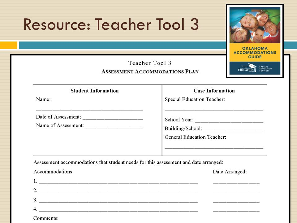 Special Education Accommodations >> Accommodations 101 An Overview Ppt Download