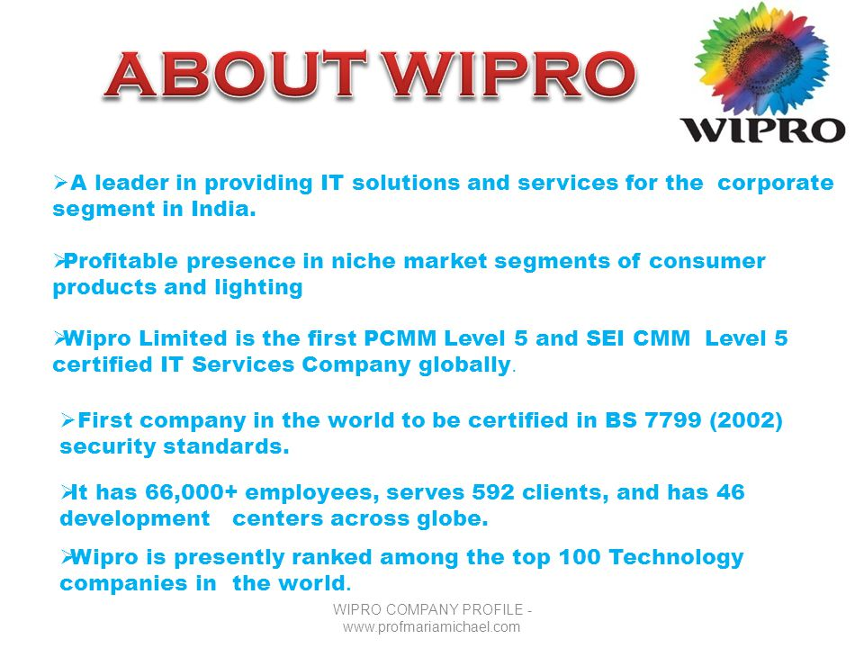 Wipro cost cutting presentation.