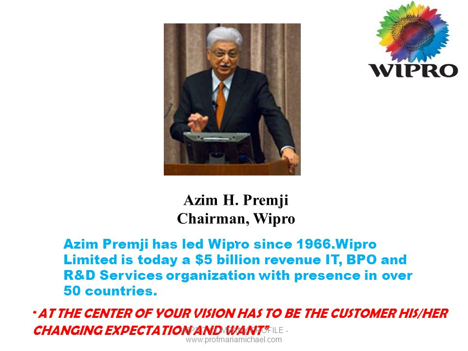 Wipro company profile ppt video online download.