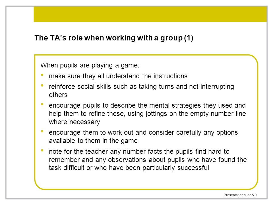 The TA's role when working with a group (1)
