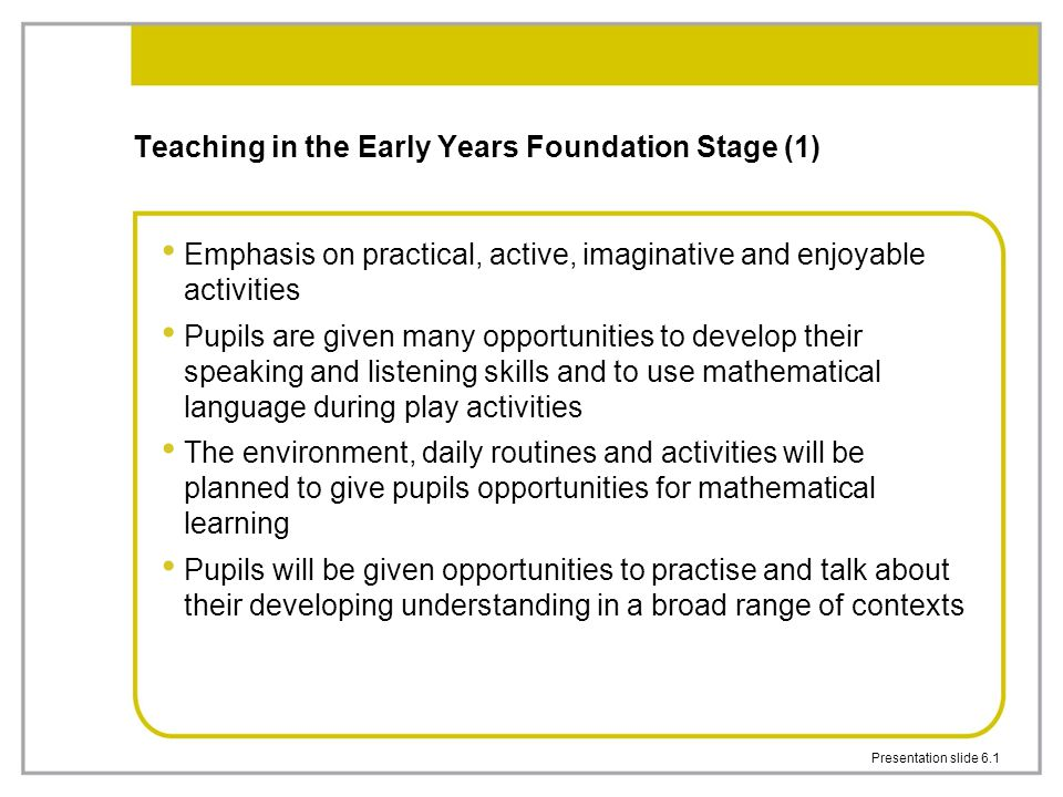 Teaching in the Early Years Foundation Stage (1)