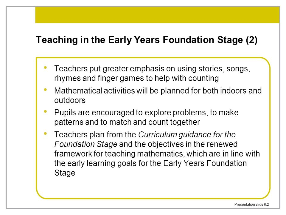 Teaching in the Early Years Foundation Stage (2)