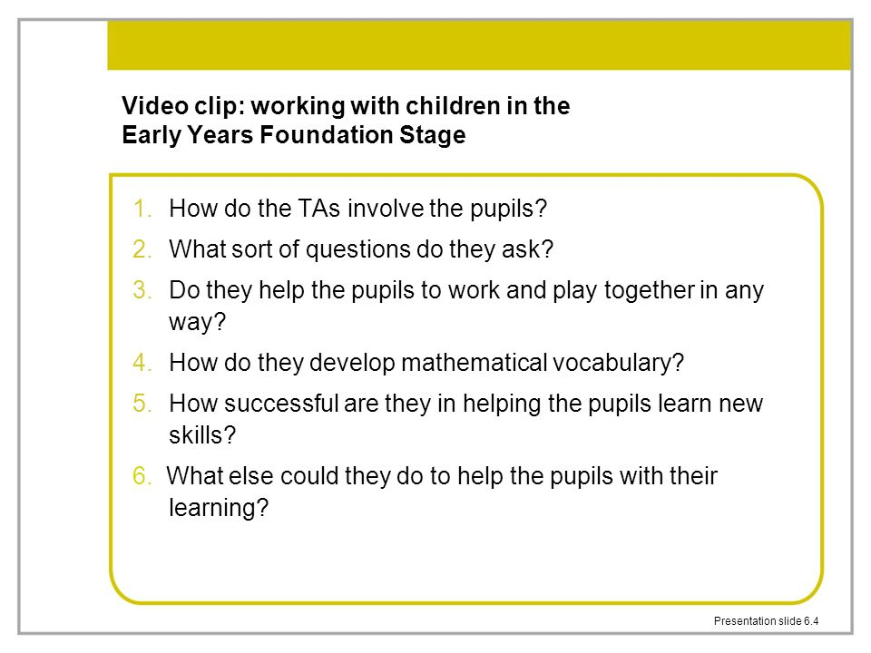 Video clip: working with children in the Early Years Foundation Stage