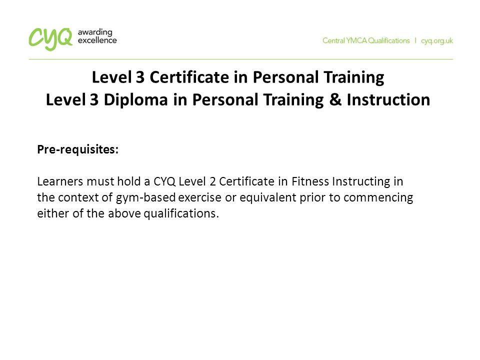 Central Ymca Qualifications Cyq Ppt Download